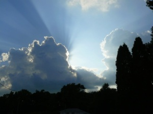 Crepuscular rays and cumulus clouds from Thomas Sept 09